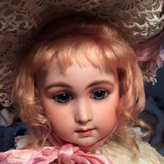 """GORGEOUS ANTIQUE FRENCH BEBE DOLL Marked 5, 25 """" w/restoration"""