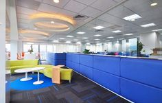 Lighting and solid & glass partition