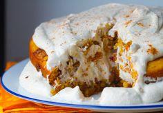 Vegan pumpkin spice cinnamon layer cake!