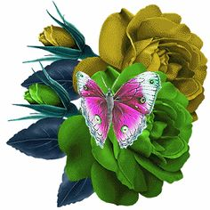 rosas e butterfly Beautiful Butterflies, Beautiful Roses, Beautiful Gif, Rosas Gif, Butterfly Gif, Images Gif, Glitter Graphics, Funny Wallpapers, Live Wallpapers