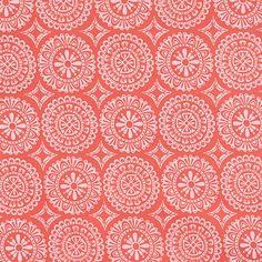 CLEARANCE - Yard of Garden Party Tango / MEDALLIONS / Coral / Melissa Ybarra / Iza Pearl Designs / Windham Fabrics - Yard