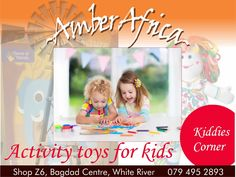 We've got just the thing for your creative little ones.-Educational books -Puzzles -Colouring books -Painting -3D Art -Crayons -Play Dough -Mosiac tiles for kids -Fabric toys  We promote activities that stimulate kids' brains. #amberafrica #kiddies #educational