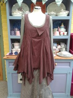 Stunning Myrine and Me Tunic Dress Top Lagenlook Prairie Boho Hippy Layering | eBay