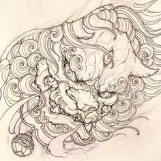 Best representation descriptions: Japanese Foo Dog Tattoo Drawing Related searches: 2018 Pencil Drawings,Pencil Tattoo Drawings Irezumi Tattoos, Hannya Tattoo, Geisha Tattoos, Lion Tattoo, Dog Tattoos, Body Art Tattoos, Sleeve Tattoos, Foo Dog Tattoo Meaning, Tattoos With Meaning