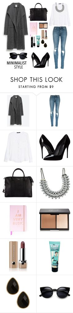 """""""minimalist"""" by camilasol ❤ liked on Polyvore featuring Zara, MANGO, Dolce&Gabbana, Givenchy, ban.do, Marc Jacobs, Christian Dior, Benefit, Natasha Accessories and women's clothing"""