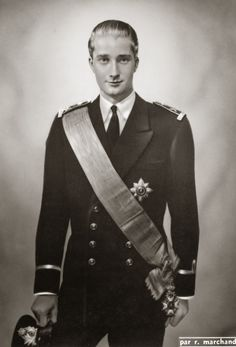 Z.K.H. Albert, Prins van België. 1950, bromide foto formaat 12 x 17 cm. Foto van Robert Marchand uit de verzameling van Wilfried Vandevelde.