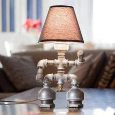 Pipe Sculpture Table Lamp