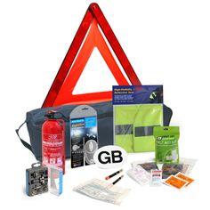 European Driving Kit - Basic First Aid Kit - Universal Bulb Kit - French Breathalysers