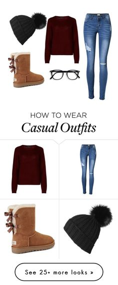 """""""casual warm holiday season"""" by brendanataly on Polyvore featuring 360cashmere, UGG and Black"""