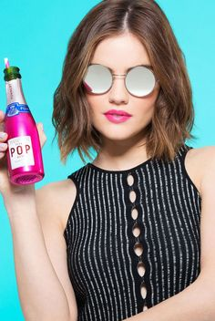 @Cosmopolitan had mark. Brand Ambassador @lucyyhale in the studio to try on some lipsticks & sunnies for the summer!