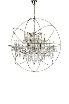 Large Chrome Orb Chandelier by CDI on @HauteLook