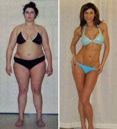 women fitness models before and after