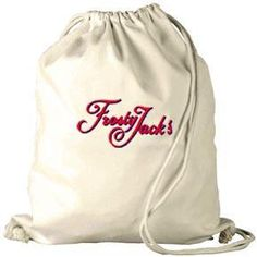 Drawstring Backpack  Size : 34cm (W) x 41cm (H) Material : Natural 8oz Woven Cotton/With Cotton Cord Two Cord Handles