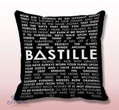 Bastille Quotes Throw Pillow Cover  #bastille