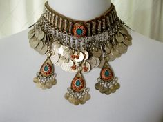 Antique Ottoman Silver coins Necklace 1900 by Babouches on Etsy, $425.00