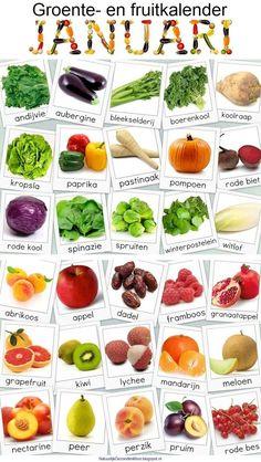 #Vegetables and #Fruit Calendar January