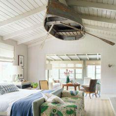 ceiling decor - hanged boat