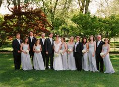 Black and Light Grey Bridesmaid Dresses