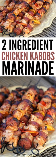 Looking for grilling recipes? Try this Easy Grilled Chicken Kabob Recipe that you can make in no time. You only need 2 ingredients to make this delicious chicken kabob marinade. Everyone will love these grilled chicken kabobs!