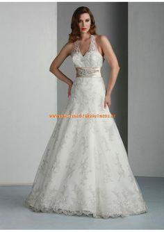 2013 Schöne Brautmode berlin kaufen aus Satin mit Spitze