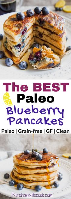 The BEST Paleo Blueberry Pancakes (GF)   Perchance to Cook, www.perchancetocook.com