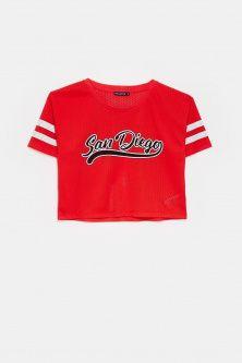 """t-shirt rete """"San Diego"""" saldi"""