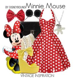 """""""Minnie Mouse"""" by leslieakay ❤ liked on Polyvore"""