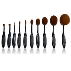 10 Piece Professional Oval Makeup Brush Set - Click Here to Save - On Sale - Get it Now - Only $25.00 - LIMITED TIME OFFER!     Hurry, Before it's all gone!