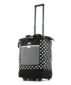 Take a look at this Black Polka Dot 14 Wheeled Shopper Tote by Olympia on #zulily today! $19.99
