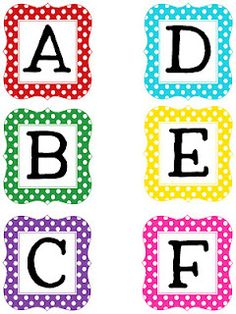 Free printable letter sets for bulletin boards...