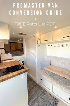Read our year-long journey to building our adventure van to live rent-free and off-the-grid as full-time vanlifers & videographers. Free Parts List PDF! Van Conversion Guide, Van Conversion Layout, Diy Van Conversions, Van Conversion Interior, Camper Van Conversion Diy, Van Conversion Cabinets, Van Conversion With Shower, Campervan Conversions Layout, Van Conversion Kitchen