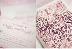 Luxury Wedding Invitations by Ceci New York - Our Muse - Blushing Pink Wedding - Fall in love with Erangani and Kevin's blushing pink wedding at the Petroleum Club in Houston, Texas - Ceci New York Luxury Wedding Invitations - laser-cut printing, letterpress printing, wedding, invitations, die cutting