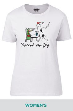 Women's Vincent van Dog Tee, available in white