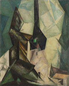 "Gelmeroda IV by Lyonel Feininger, oil on canvas, 1915, 39 1/2 x 31 3/8"" (100 x 79.7 cm) | Solomon R. Guggenheim Museum, New York"