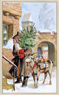 §§§ . Father Christmas and his goat
