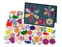 Bloemvormen met patroon Geschikt voor versieringen op mappen en kaarten, maar ook voor het maken van collages. De bloemvormen hebben diverse maten variërend van 1 - 4 cm in verschillende patronen.