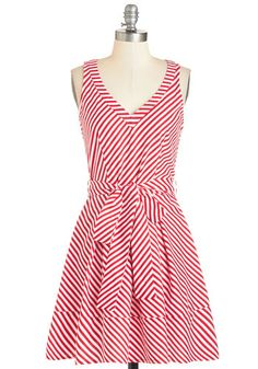 Dandy Cane Dress. Add sweetness to your day with this festively striped frock. #gold #prom #modcloth