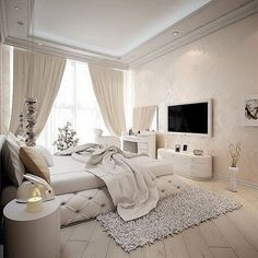 10 Contemporary Decor Tips for a Luxury Bedroom Design Dream Rooms, Dream Bedroom, Home Bedroom, Bedroom Decor, Lux Bedroom, Master Bedrooms, Bedroom Ideas, Modern Bedrooms, Bedroom With Tv