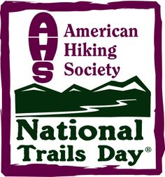 National Trails Day is June 2!  Find an event near you at http://americanhiking.org/ntd/events/!