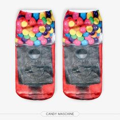 2015 Fashion New Arrival 3D Cute Printed Multiple Colors Meias Socks Comfortable Cotton Ankle Calcetines Hot Sale