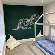 Just choose the color and sizes for this amazing dinosaur wall sticker to perfectly match his bedroom and make your toddler so happy.