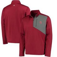 Oklahoma Sooners Cutter & Buck Shaw Hybrid DryTec Half-Zip Pullover Jacket - Crimson - $74.99