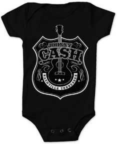b87221a71839 Classic Johnny Cash black onesie from My Baby Rocks - cool rock and band  baby