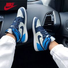 Jordan Shoes Girls, Jordan Outfits, Girls Shoes, Nike Outfits, Adidas Shoes Outfit, Nike Air Shoes, Nike Shoes Blue, Nike Socks, Nike Fashion