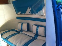 The Happier Camper • New retro upholstery in the Boler!