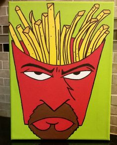 Frylock From Aqua Teen Hunger Force Original by LoveWithFaith Harvey Birdman, Aqua Teen Hunger Force, Teeth Pictures, Space Ghost, Acrylic Artwork, American Dad, Adult Cartoons, Picture Hangers, Cartoon Network