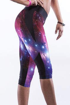 Jambieres Trendy Galaxy Impression Sport Capris – Modebuy.com
