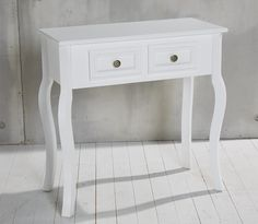 Console Dressing Table 2 Drawers Antique White Country House Wood Telephone Stand Side NEW: Amazon.co.uk: Kitchen & Home