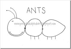 Write ABC's or Numbers on ant and have kids cover them up with a plastic ant.