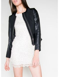 Lace & Sequin Scallop Edge Dress